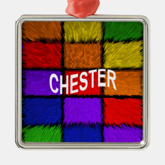 CHESTER Silver-Colored SQUARE ORNAMENT