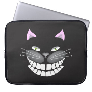 """Chester the Cat"" smiling cute cheshire kitty Computer Sleeves"