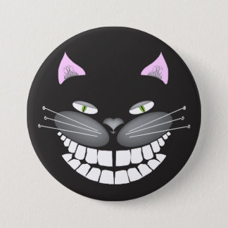 "Chester the Cheshire Cat on a 3"" round button"