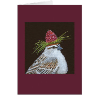 Chester, the chipping sparrow card