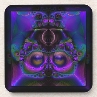 Chester the Cybernetic Owl  Cork Coaster Set