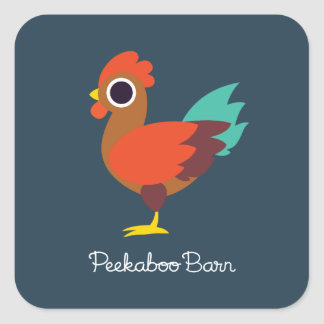 Chester the Rooster Square Sticker
