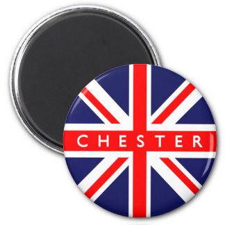Chester UK Flag 2 Inch Round Magnet
