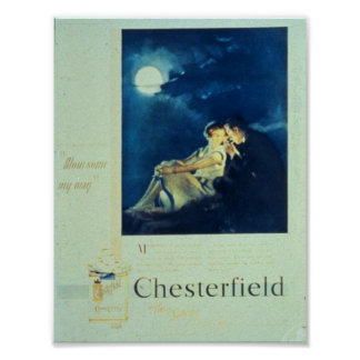 Chesterfield Cigarettes Ad Poster