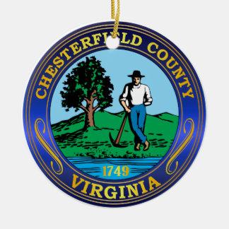 Chesterfield County seal Ceramic Ornament