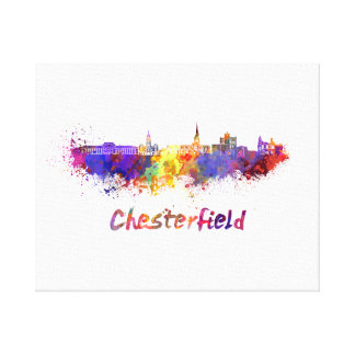 Chesterfield skyline in watercolor canvas print