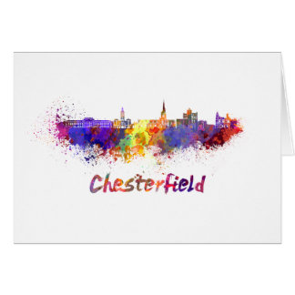 Chesterfield skyline in watercolor card