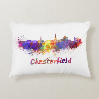 Chesterfield skyline in watercolor decorative pillow