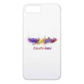Chesterfield skyline in watercolor iPhone 8 plus/7 plus case