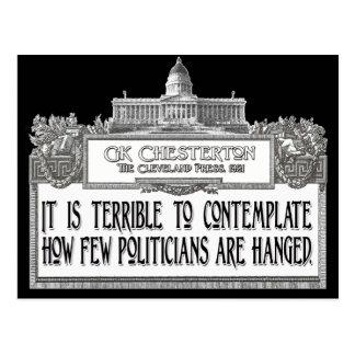 Chesterton on Politicians' Hanging Postcard