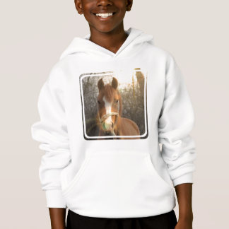 Chestnut Arab Horse Children's Hooded Sweatshirt