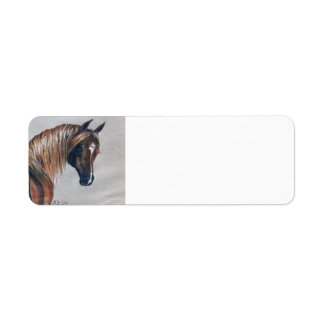 Chestnut Arabian Horse Return Address Labels