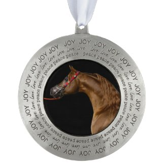 Chestnut Arabian Stallion Christmas Ornament