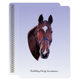 Chestnut Horse (add party details) Card