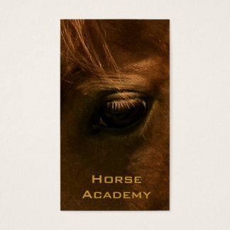 Chestnut Horse Eye Business Card