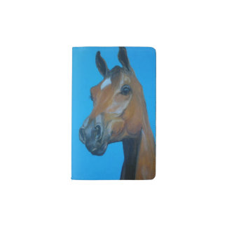 Chestnut horse face painting pocket moleskine notebook