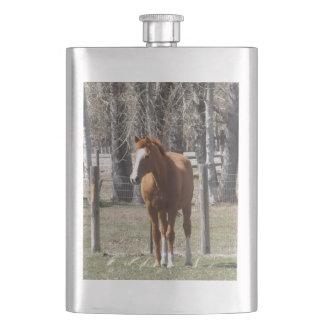 Chestnut Horse Flask