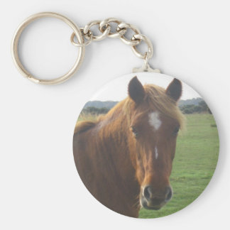 Chestnut Horse Keychain