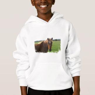 Chestnut Horse with a Blaze Children's Sweatshirt