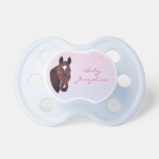 Chestnut Horse with White Star Pacifier
