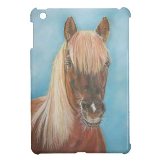 chestnut mare with blonde mane equine art horse case for the iPad mini