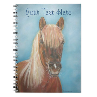 chestnut mare with blonde mane equine art horse notebook
