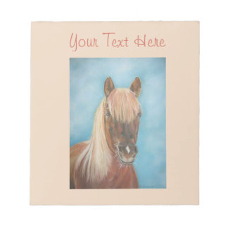 chestnut mare with blonde mane equine art horse notepad