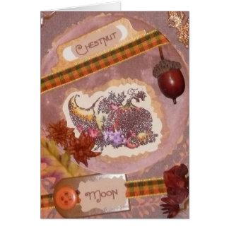 CHESTNUT Moon FAIRY Greeting Card Harvest