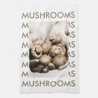 Chestnut Mushrooms Kitchen Towel