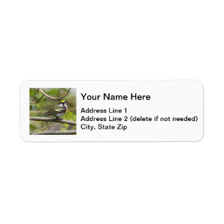 Chestnut-sided Warbler Return Address Label