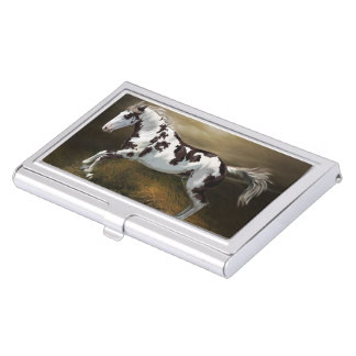 Chestnut Splash Frame Tovero Paint Horse Business Card Holder