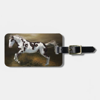 Chestnut Splash Frame Tovero Paint Horse Luggage Tag