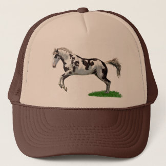 Chestnut Splash Frame Tovero Paint Horse Trucker Hat