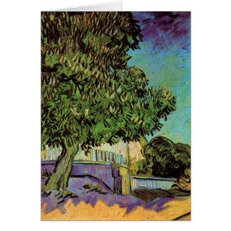 Chestnut Tree in Blossom Card