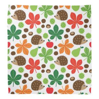 Chestnuts & Hedgehog Seamless Pattern Bandana