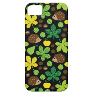 Chestnuts & Hedgehog Seamless Pattern Case For The iPhone 5