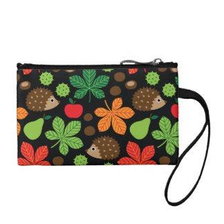 Chestnuts & Hedgehog Seamless Pattern Coin Purse