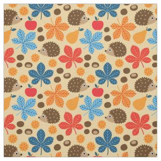 Chestnuts & Hedgehog Seamless Pattern Fabric