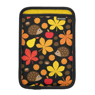 Chestnuts & Hedgehog Seamless Pattern iPad Mini Sleeve