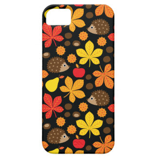Chestnuts & Hedgehog Seamless Pattern iPhone 5 Covers