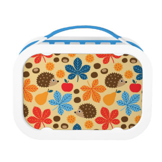 Chestnuts & Hedgehog Seamless Pattern Lunch Box