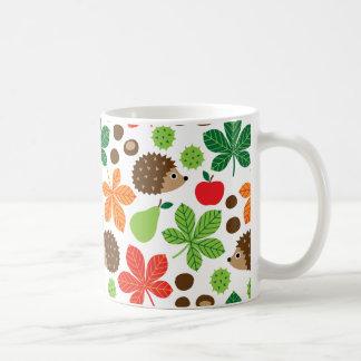 Chestnuts & Hedgehog seamless pattern (ver.1) Coffee Mug