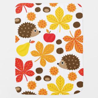 Chestnuts & Hedgehog seamless pattern (ver.2) Baby Blanket