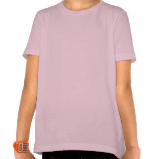 Cheval courant pourpre foncé pour la fille folle t-shirts