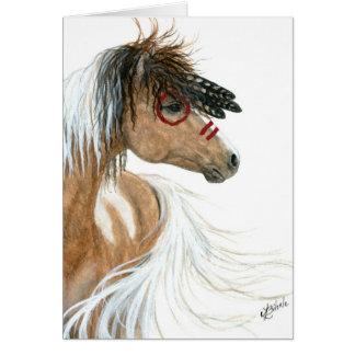 Cheval de Pinto par la carte de note de salutation