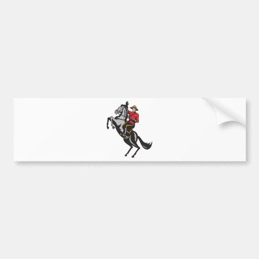 Cheval d'équitation monté par Canadien de Mountie  Autocollant Pour Voiture