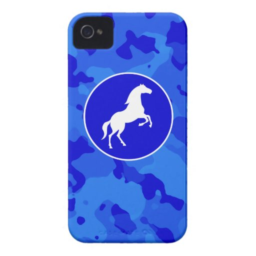 Cheval sur Camo bleu ; Camouflage Coques iPhone 4 Case-Mate