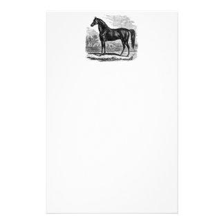 Cheval vintage de 1800s - modèle de cavalier de Mo Papier À Lettre Customisé