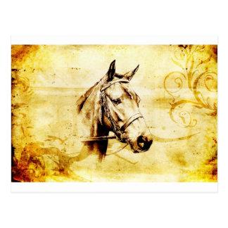 Cheval vintage du fineart F075 Cartes Postales