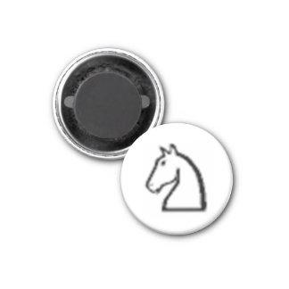 Chevalier de ~ d'aimant de réfrigérateur des échec magnet carré 2,50 cm